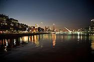 Puente de la Mujer, by Santiago Calatrava in the Puerto Madero district which spans the Rio de la Plata
