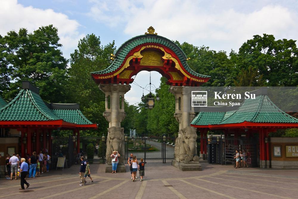 Elephant Gate at Berlin Zoological Gardens, Berlin, Germany