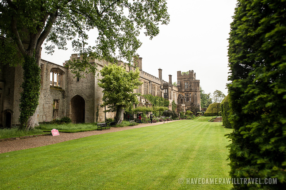 Some of the exterior and gardens of Sudeley Castle. Sudeley Castle dates back to the 15th century, although an even older castle might have once been on the same site. It was the final home and burial place of King Henry VIII's last wife, Queen Catherine Parr (c. 1512-1548).