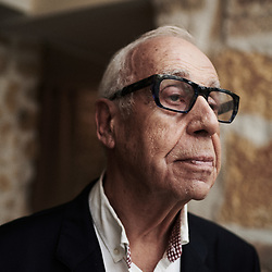 Jean Ziegler, politician, author, posing in the lobby at the La Louisiane Hotel. Paris, France. March 3, 2020. <br /> Jean Ziegler, politicien, auteur, prenant la pose dans le lobby de l'hotel La Louisiane. Paris, France. 3 mars 2020.