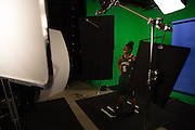 April 2, 2016; Indianapolis, Ind.; Christina Davis poses during their green screen session at the NCAA Headquarters.