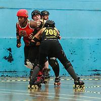 2019-08-03 Liverpool Roller Birds Yellow Shovemarines VS Birmingham Blitz Dames Bomb Squad