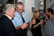 MICHAEL DOUGLAS; PAT RILEY,  Dom PŽrignon with Alex Dellal, Stavros Niarchos, and Vito Schnabel celebrate Dom PŽrignon Luminous. W Hotel Miami Beach. Opening of Miami Art Basel 2011, Miami Beach. 1 December 2011. .<br /> MICHAEL DOUGLAS; PAT RILEY,  Dom Pérignon with Alex Dellal, Stavros Niarchos, and Vito Schnabel celebrate Dom Pérignon Luminous. W Hotel Miami Beach. Opening of Miami Art Basel 2011, Miami Beach. 1 December 2011. .