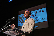 May 7, 2012- New York, NY United States: - Dr. Khalil Gibran Muhammad, Director, The Schomburg Center attends the Theater Talks at the Schomburg: A Streetcar Named Desire held at the Schomburg Center for Research in Black Culture, part of the New York Public Library on May 7, 2012 in Harlem Village, New York City. The Schomburg Center for Research in Black Culture, a research unit of The New York Public Library, is generally recognized as one of the leading institutions of its kind in the world. For over 80 years the Center has collected, preserved, and provided access to materials documenting black life, and promoted the study and interpretation of the history and culture of peoples of African descent.  (Photo by Terrence Jennings) .