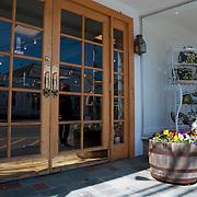 Doors of the closed for low season Puritan Caoe Cod shop