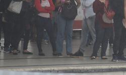 April 28, 2017 - No Rio de Janeiro serviços de transporte público funcionam normalmente. Houve baixa adesão à Greve Geral convocada por movimentos sindicais contra as reformas trabalhistas e da previdência. Nesta imagem movimentação no terminal Alvorada maior terminal  de integração entre ônibus  e o  serviço BRT (Credit Image: © Luiz Gomes/Fotoarena via ZUMA Press)