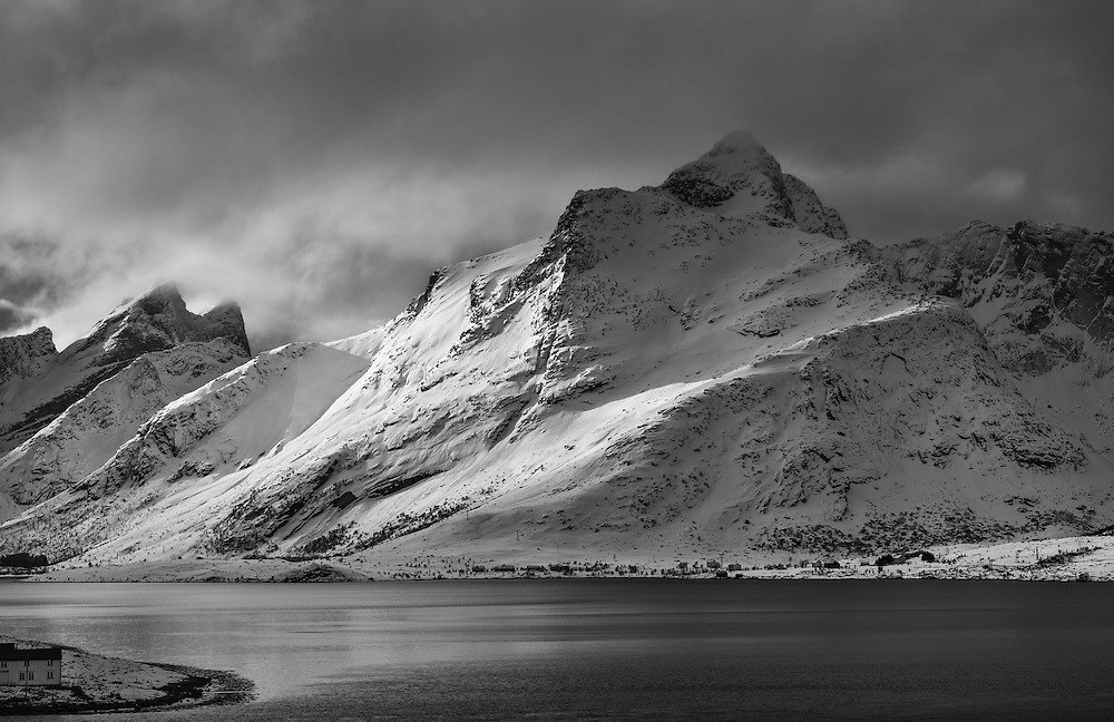 Stopping along the road to shoot.  Lofoten's beauty was everywhere.