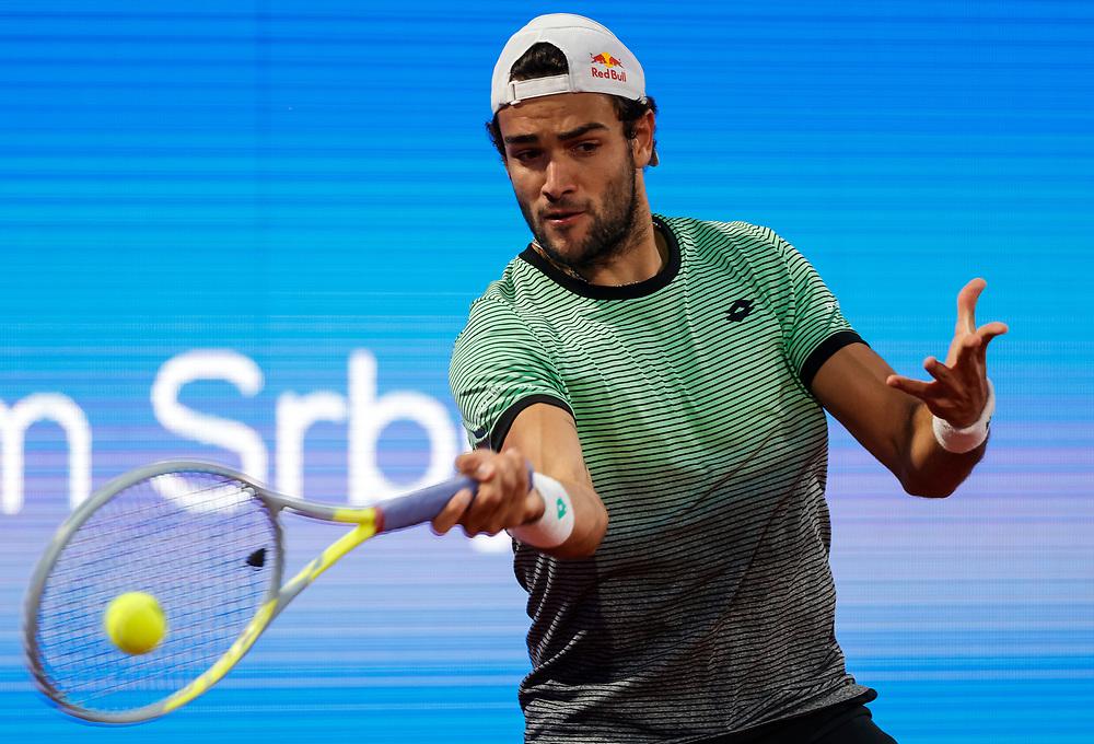 Tennis-ATP Serbia Open Belgrade 2021<br /> Marco Cecchinato (ITA) v Matteo Berrettini (ITA)<br /> Beograd, 21.04.2021.<br /> foto: Srdjan StevanovicStarsportphoto ©