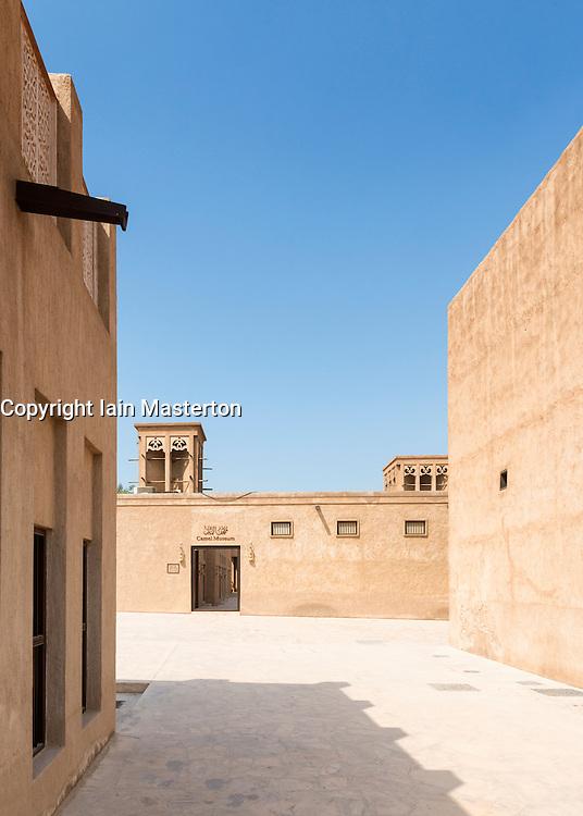 Camel Museum and historic buildings in Heritage area at Al Shindagha,Dubai United Arab Emirates