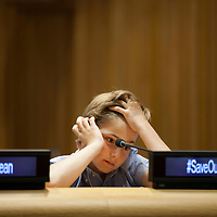 Before the screening of Chasing Coral during The Ocean Conference at the UN in New York on June 08, 2017.