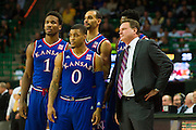 WACO, TX - JANUARY 7: Kansas Jayhawks head coach Bill Self looks on with his team against the Baylor Bears on January 7, 2015 at the Ferrell Center in Waco, Texas.  (Photo by Cooper Neill/Getty Images) *** Local Caption *** Bill Self