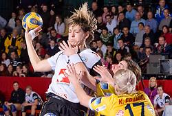 Marina Vergeliuk of Krim at handball match of Round 5 of Champions League between RK Krim Mercator and Metz Handball, France, on January 9, 2010 in Kodeljevo, Ljubljana, Slovenia. (Photo by Vid Ponikvar / Sportida)