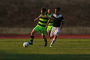 Forest Green Rovers Luke James(33) runs forward during the Pre-Season Friendly match between SC Farense and Forest Green Rovers at Estadio Municipal de Albufeira, Albufeira, Portugal on 25 July 2017. Photo by Shane Healey.
