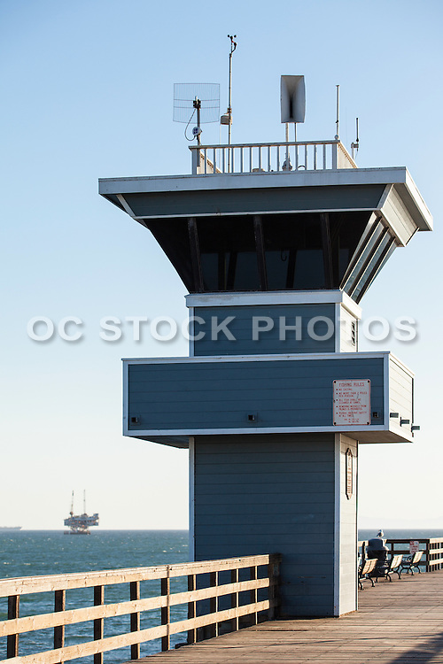 Seal Beach Lifeguard Tower On The Pier
