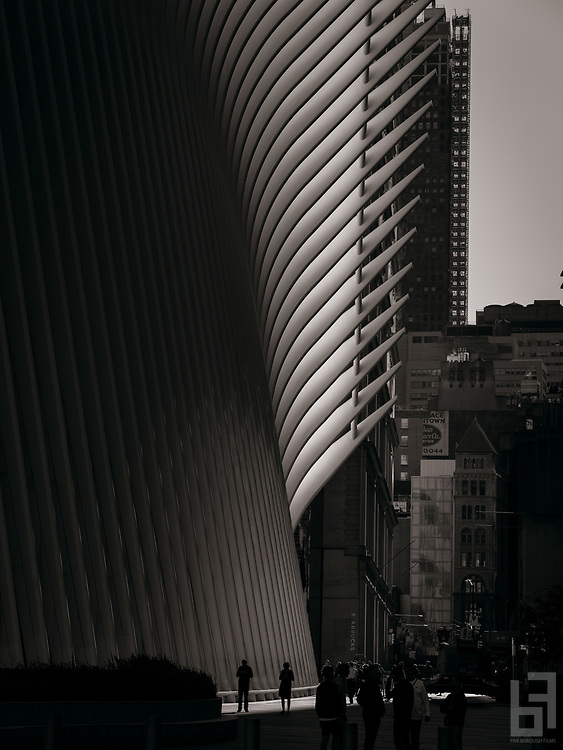 Santiago Calatrava's winged terminal at the World Trade Center.