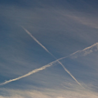 I don't remember hearing or seeing planes. I looked up and there was an X.