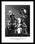 George Morrison, director and compiler of the tim 'Mise Éire' at work editing the second half of the film at Peter Hunt Studio, Dublin.<br /> <br /> 21st September 1960<br /> <br /> 21/09/1960