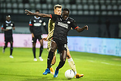 Jordan Teze of PSV Eindhoven during football match between NS Mura and PSV Eindhoven in Third Round of UEFA Europa League Qualifications, on September 24, 2020 in Stadium Fazanerija, Murska Sobota, Slovenia. Photo by Blaz Weindorfer / Sportida