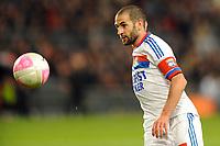 FOOTBALL - FRENCH CHAMPIONSHIP 2011/2012 - L1 - STADE RENNAIS v OLYMPIQUE LYONNAIS - 1/04/2012 - PHOTO PASCAL ALLEE / DPPI - LISANDRO LOPEZ (OL)