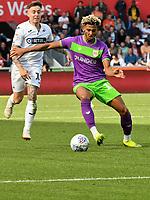 Football - 2018 / 2019 Sky Bet EFL Championship - Swansea City vs. Bristol City<br /> <br /> Lloyd Kelly of Britol City defends  Barrie McKay of Swansea City attacks, at Liberty Stadium.<br /> <br /> COLORSPORT/WINSTON BYNORTH