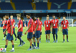October 6, 2017 - Kolkata, West Bengal, India - Players of the England football team during a practice session ahead of FIFA U 17 World Cup India 2017 on October 6, 2017 in Kolkata. (Credit Image: © Saikat Paul/Pacific Press via ZUMA Wire)