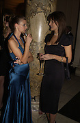 Liberty Ross and Saffron Aldridge. British Fashion awards 2005. V. & A. Museum. Cromwell Rd. London.   10  November 2005 . ONE TIME USE ONLY - DO NOT ARCHIVE © Copyright Photograph by Dafydd Jones 66 Stockwell Park Rd. London SW9 0DA Tel 020 7733 0108 www.dafjones.com