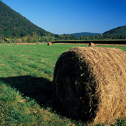 Kent, CT.. Hay bales in the Litchfield Hills of western Connecticut.