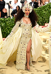 Cardi B attending the Metropolitan Museum of Art Costume Institute Benefit Gala 2018 in New York, USA. PRESS ASSOCIATION Photo. Picture date: Picture date: Monday May 7, 2018. See PA story SHOWBIZ MET Gala. Photo credit should read: Ian West/PA Wire