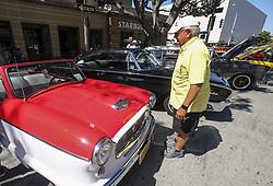 June 18, 2017 - Los Angeles, California, U.S - Pasadena Police 16th Annual FatherÃ•s Day Car Show in Pasadena, California, June 18, 2017. (Credit Image: © Ringo Chiu via ZUMA Wire)