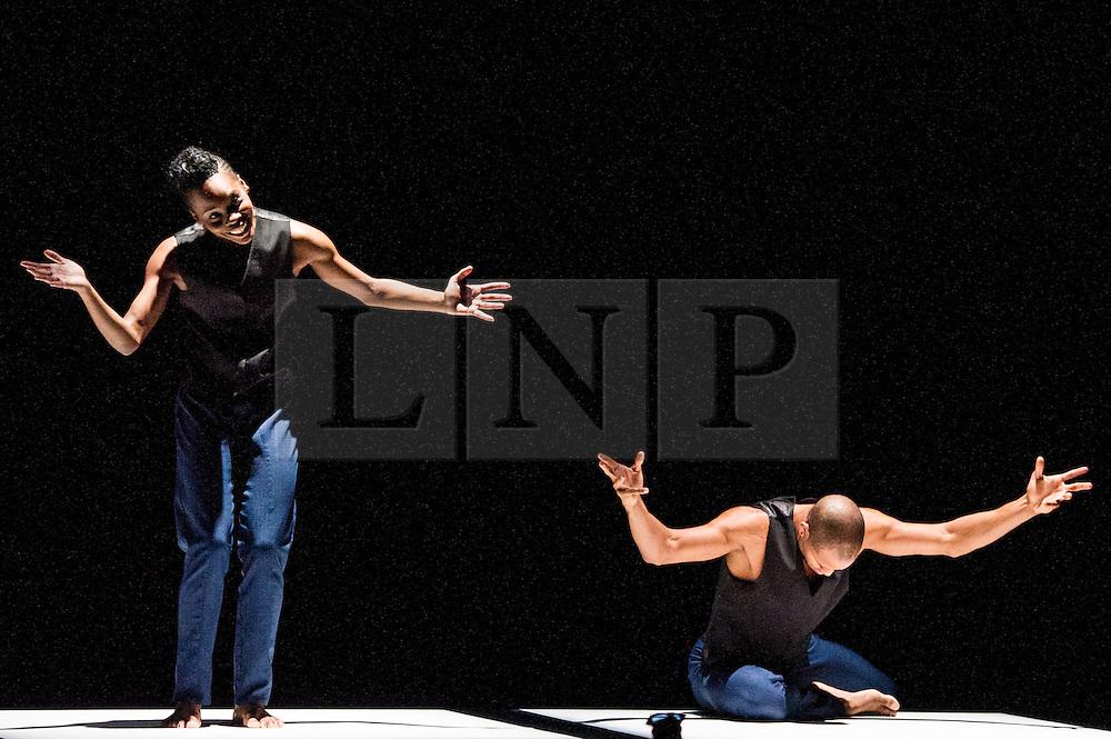 © Licensed to London News Pictures. 11/10/2012. London, UK. Sadler's Wells Theatre present Cedar Lake Contemporary Ballet Company. Picture shows Alexander Ekman's Tuplet, dancer (L) Ebony Williams.  Photo credit: Tony Nandi/LNP