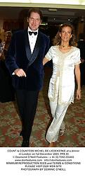 COUNT & COUNTESS MICHEL DE LIEDEKERKE at a dinner in London on 1st December 2003.PPA 45