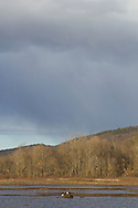 Mamakating, New York - Changing skies over the Bashakill Wildlife Management Area on March 27, 2013.