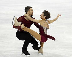 February 15, 2018 - Pyeongchang, KOREA - Meagan Duhamel and Eric Radford of Canada compete in pairs free skating during the Pyeongchang 2018 Olympic Winter Games at Gangneung Ice Arena. (Credit Image: © David McIntyre via ZUMA Wire)
