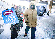 Union workers for government contractors rally outside of Pentagon in Virginia. Jan. 2013