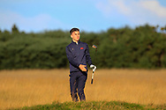 Conor Gough (GB&I) on the 5th during Day 2 Foursomes of the Walker Cup, Royal Liverpool Golf CLub, Hoylake, Cheshire, England. 08/09/2019.<br /> Picture Thos Caffrey / Golffile.ie<br /> <br /> All photo usage must carry mandatory copyright credit (© Golffile   Thos Caffrey)