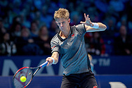 Kevin Anderson of South Africa in action during the Nitto ATP World Tour Finals at the O2 Arena, London, United Kingdom on 13 November 2018.Photo by Martin Cole