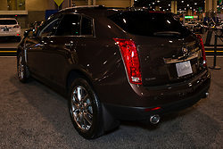 CHARLOTTE, NORTH CAROLINA - NOVEMBER 20, 2014: Cadillac SRX Crossover on display during the 2014 Charlotte International Auto Show at the Charlotte Convention Center.
