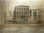 Illustration of the Palazzo Rezzonico 1936.