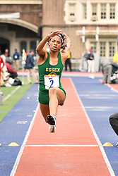 April 27, 2018 - Philadelphia, Pennsylvania, U.S - NATRICIA HOOPER, of Essex CC,  winner of the CW of the triple jump championship in action  at the 124th running of the Penn Relays at Franklin Field in Philadelphia PA (Credit Image: © Ricky Fitchett via ZUMA Wire)