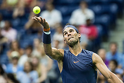 August 29, 2018 - Flushing Meadow, NY, U.S. - FLUSHING MEADOW, NY - AUGUST 29: RAFAEL NADAL (ESP) day three of the 2018 US Open on August 29, 2018, at Billie Jean King National Tennis Center in Flushing Meadow, NY. (Photo by Chaz Niell/Icon Sportswire) (Credit Image: © Chaz Niell/Icon SMI via ZUMA Press)