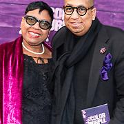 NLD/Amsterdam/20180416 - Koningin Maxima aanwezig bij de première van The Color Purple, John van Leerdam en partner