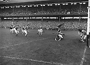 Neg no:.A786/43507-04366...17081958AISFCSF..17.08.1958...All Ireland Senior Football Championship - Semi-Final..Dublin.02-07.Galway.01-09...Dublin. .P. O'Flaherty, L. Foley, M. Wilson, Joe Timmons, C. O'Leary, J. Crowley, J. Boyle, John Timmons, S. Murray, P. Haughey, O. Freaney, D. Ferguson, P. Farnan, J. Joyce, K. Heffernan (Captain).Subs: Maurice Whelon for Murray; P. Downey for John Timmons...Leinster. ..O. Walsh (Kilkenny), N. Drumgoole (Dublin), N. ODonnell (Wexford), J. Maher (Kilkenny), J. English (Wexford), P. Buggy, J. McGovern, M. Brophy, J. Sutton, D. Heaslip (Kilkenny), E. Wheeler (Wexford), C. OBrien (Laois), M. Kenny, W. Dwyer, S. Clohosey (Kilkenny).Sub. W. Rackard (Wexford) for Buggy.