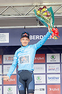 Ethan Heyter winner of the Sportsbreak.com points jersey during the presentation after Stage 8 of the AJ Bell Tour of Britain 2021 between Stonehaven to Aberdeen, , Scotland on 12 September 2021.