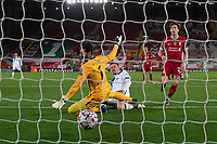 Football - 2020 / 2021 Champions League - Group D - Liverpool vs Atalanta - Anfield<br /> <br /> <br /> Atalanta's Josip Ilicic  scores his sides first goal  <br /> <br /> <br /> COLORSPORT/TERRY DONNELLY