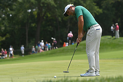 August 12, 2018 - St. Louis, Missouri, U.S. - ST. LOUIS, MO - AUGUST 12: Francesco Molinari putts on the #1 green during the final round of the PGA Championship on August 12, 2018, at Bellerive Country Club, St. Louis, MO.  (Photo by Keith Gillett/Icon Sportswire) (Credit Image: © Keith Gillett/Icon SMI via ZUMA Press)