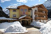 Italy, Trento, Canazei ski resort, an Alpine Hotel ,