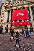 """Fearless Girl"" Statue & New York Stock Exchange"