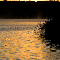 Sunrise on the Connecticut River in Essex, Connecticut.  The Nature Conservancy's Turtle Cove Preserve.