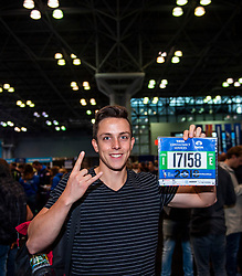 02-11-2018 USA: NYC Marathon We Run 2 Change Diabetes day 1, New York<br /> The day to get up for your number at the Expo / Nigel