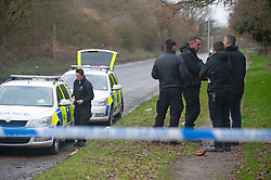 ©Licensed to London News Pictures 07/12/2019.<br /> Dartford,UK.Police search team arrives on scene.  A large police cordon is in place around woodland at Dartford Heath, Dartford,Kent. <br /> According to Local media Kent police are investigating the rape of a woman on Thursday 5th December. Police arrived at the scene yesterday afternoon (6th December).<br /> Photo credit: Grant Falvey/LNP